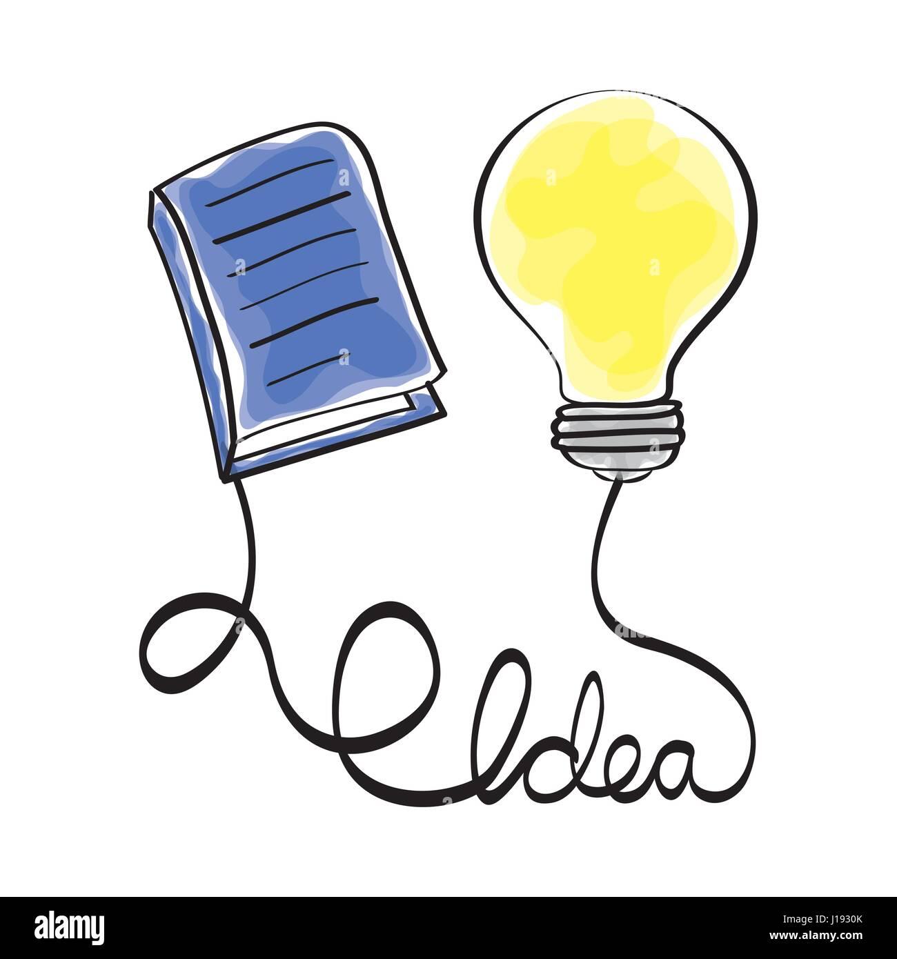 Idea Design. Disegna icona. Sfondo bianco , vettore Immagini Stock