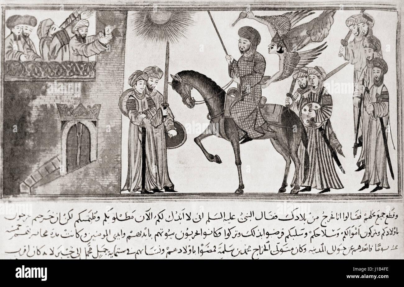 Muḥammad ibn 'Abdullāh, c. 570 - 632. Profeta dell'Islam. Da Hutchinson nella storia delle nazioni, pubblicato Immagini Stock