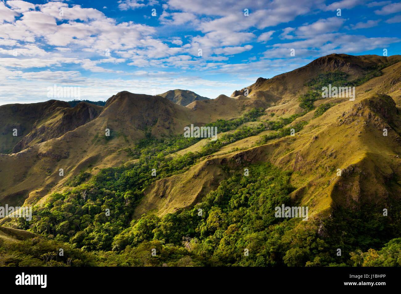 Paesaggio in Altos de Campana National Park, Repubblica di Panama. Immagini Stock