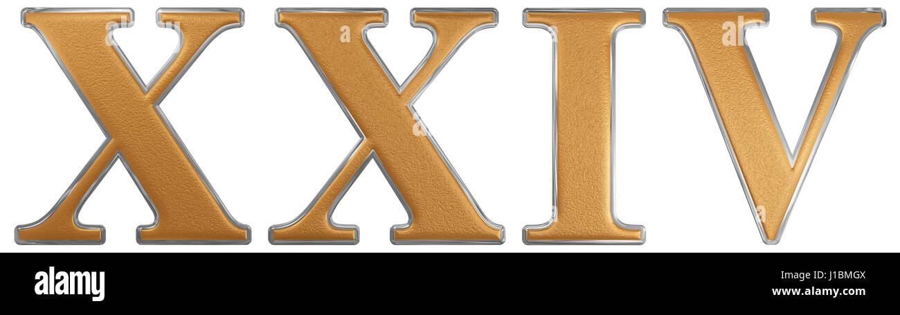 Numero Romano Xxiv Quattuor Et Viginti 24 Quattro Venti Isolati