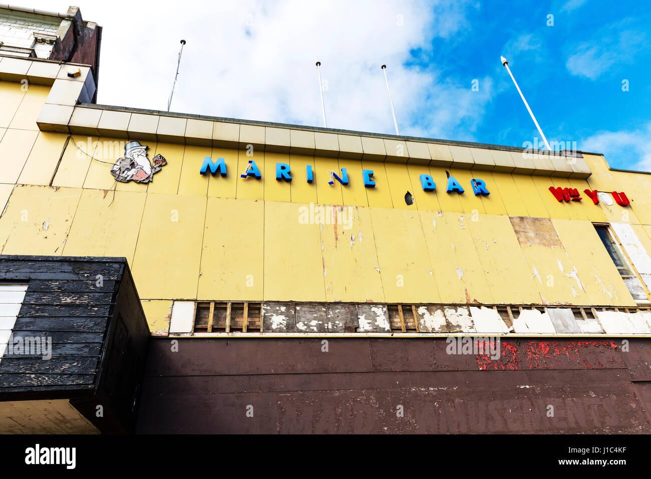 Scarborough edificio vuoto brexit chiusura di imprese commerciali fallimento chiuso business UK Scarborough Yorkshire Immagini Stock