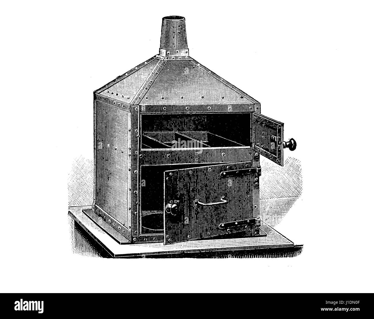 Tipografia, presto dessiccator stencil, XIX secolo incisione Immagini Stock