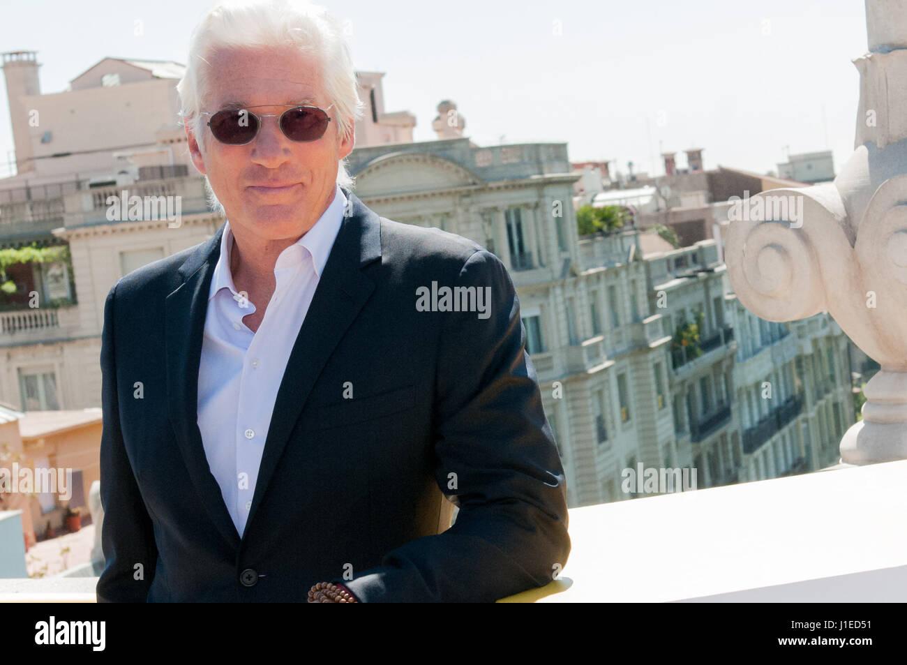 L'attore americano Richard Gere e un film del regista Joseph Cedar apre il primo International Barcelona Film Immagini Stock