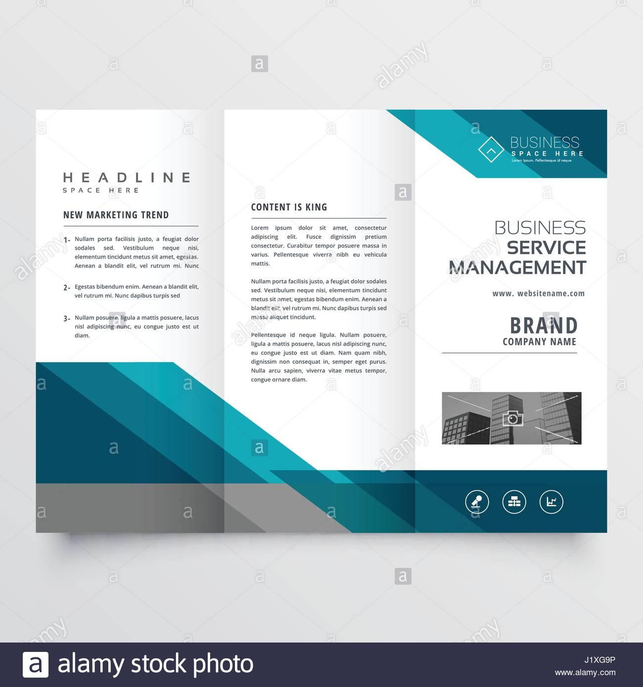 business brochure pieghevole in tre parti il foglietto design in