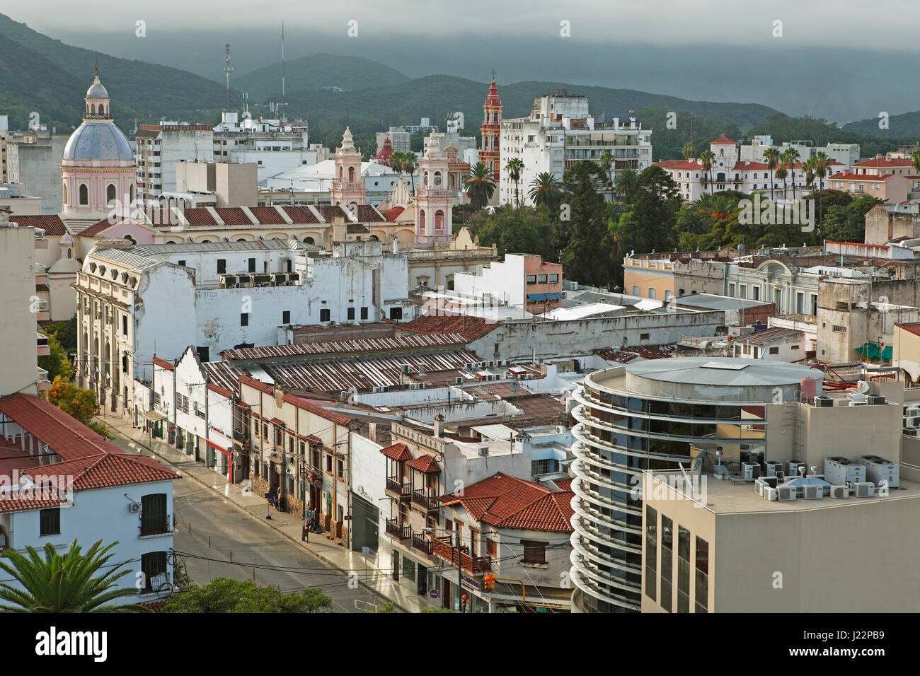 Cityscape, Salta, provincia di Salta, Argentina Immagini Stock