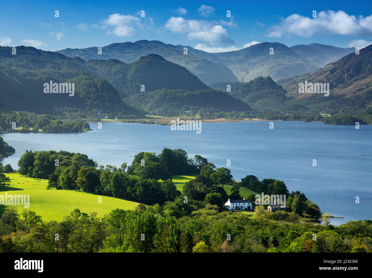 Derwentwater, Lake District, England, Regno Unito - Lake District inglese, Derwent Water scena di paesaggio Immagini Stock
