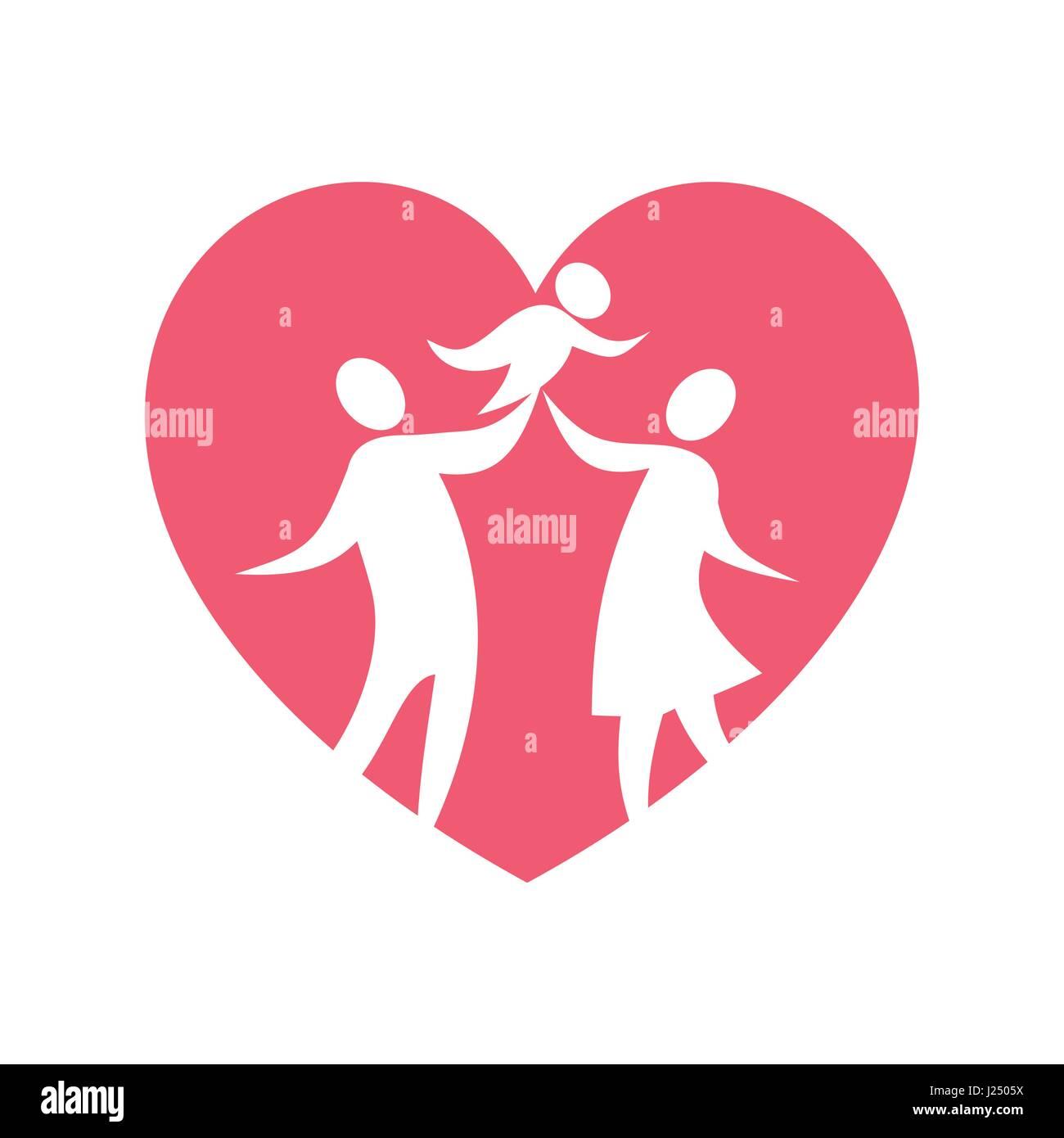 Una Felice Famiglia Cristiana Basata Sull Amore Per Gli