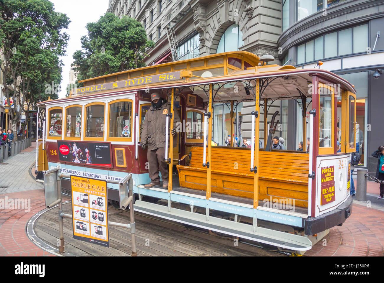 San Francisco, California, Stati Uniti d'America, Nord America, cavo cara Immagini Stock