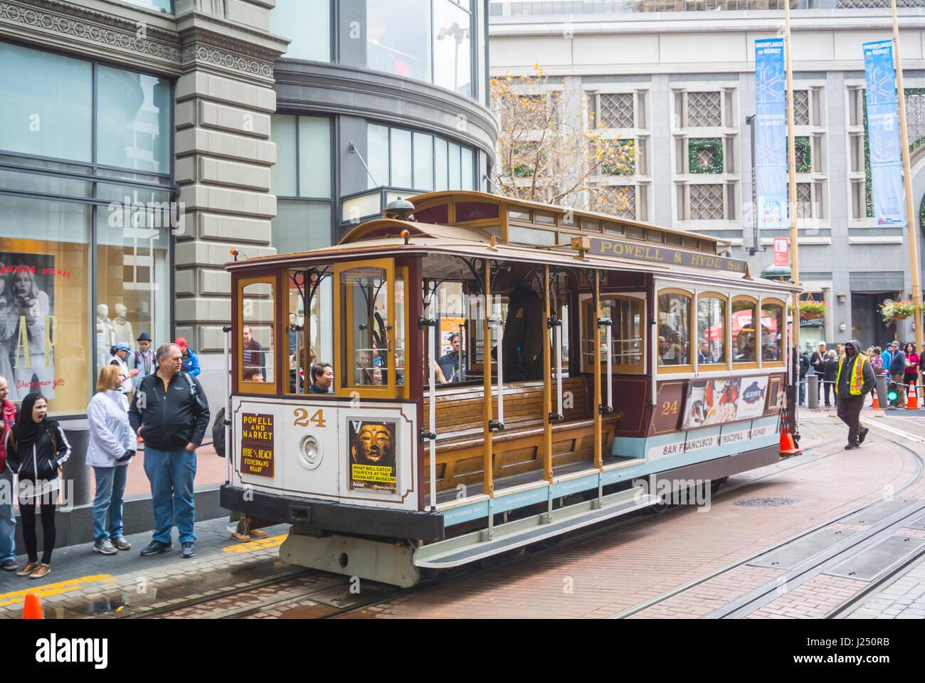 San Francisco, California, Stati Uniti d'America, Nord America, funivia Immagini Stock
