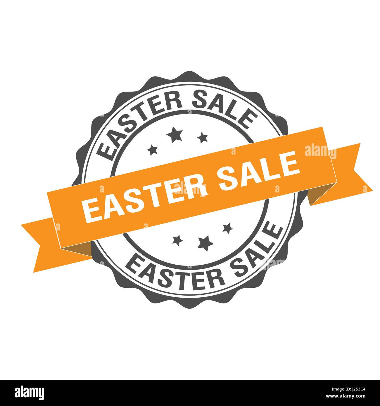 Pasqua vendita illustrazione del timbro Immagini Stock