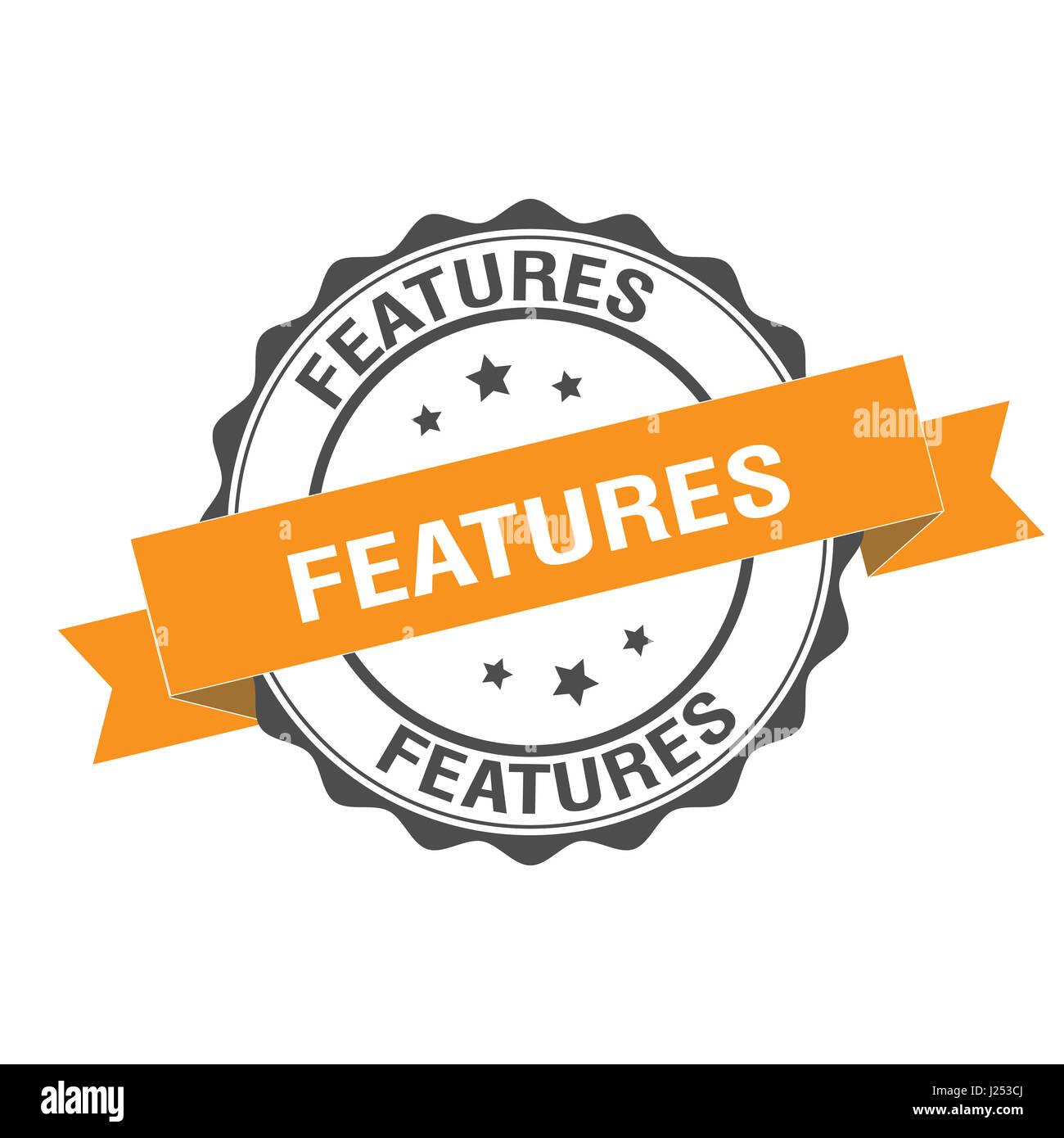 Caratteristiche illustrazione del timbro Immagini Stock
