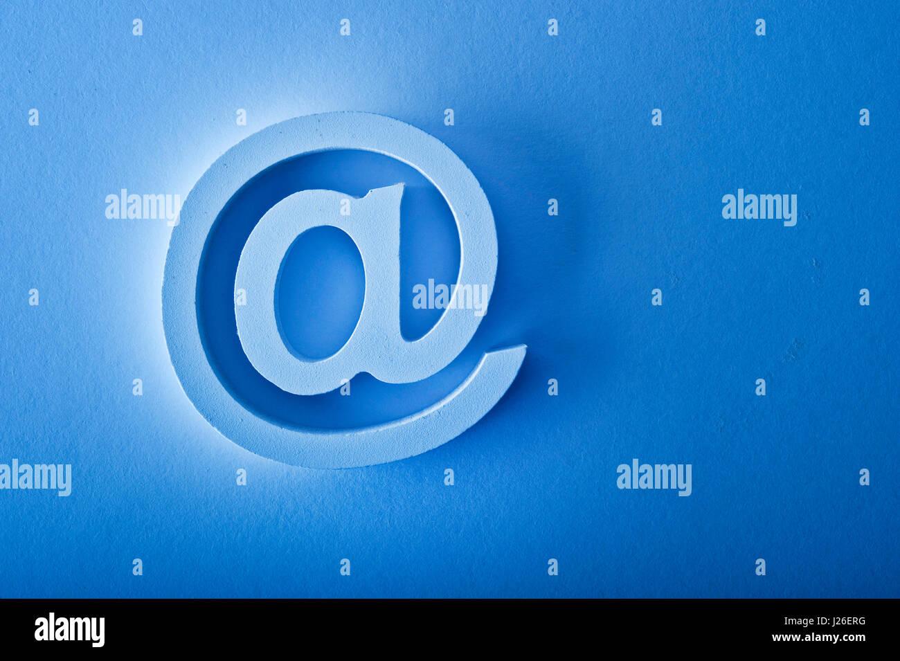 simbolo del email Foto Stock