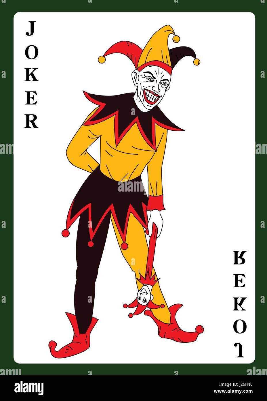 modelli di grande varietà andare online comprare reale Joker nel costume colorato carta da gioco Illustrazione ...