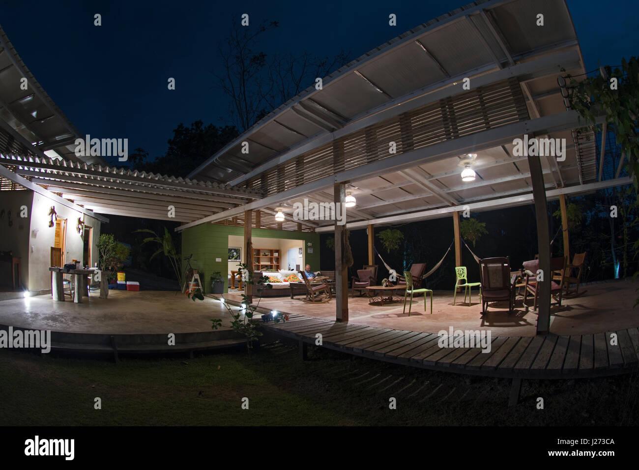 La tettoia del Camp nella Darién Panama Immagini Stock