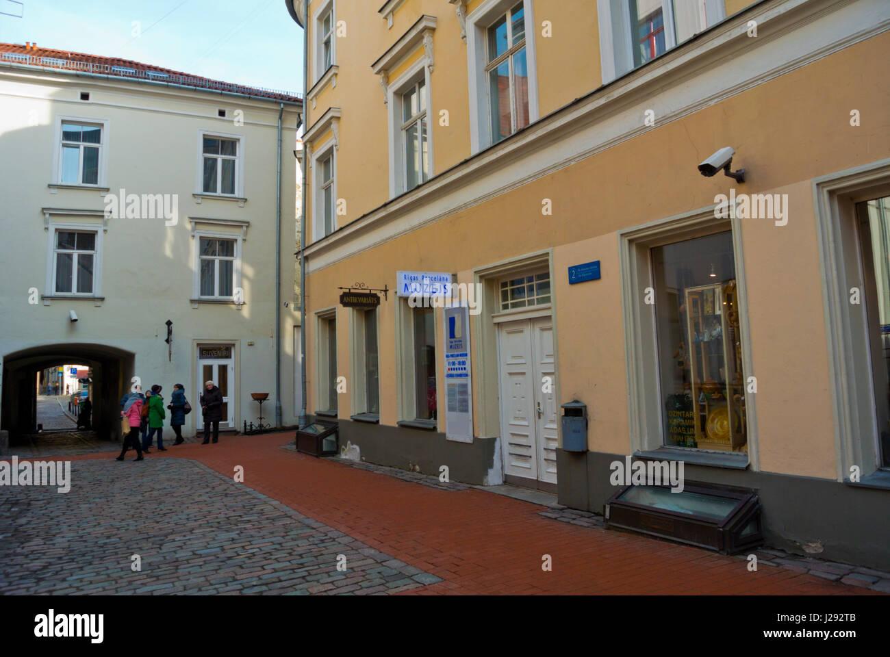Konventa Seta, Seta convento, St Johns cortile, Vecriga, città vecchia, Riga, Lettonia, Europa Immagini Stock
