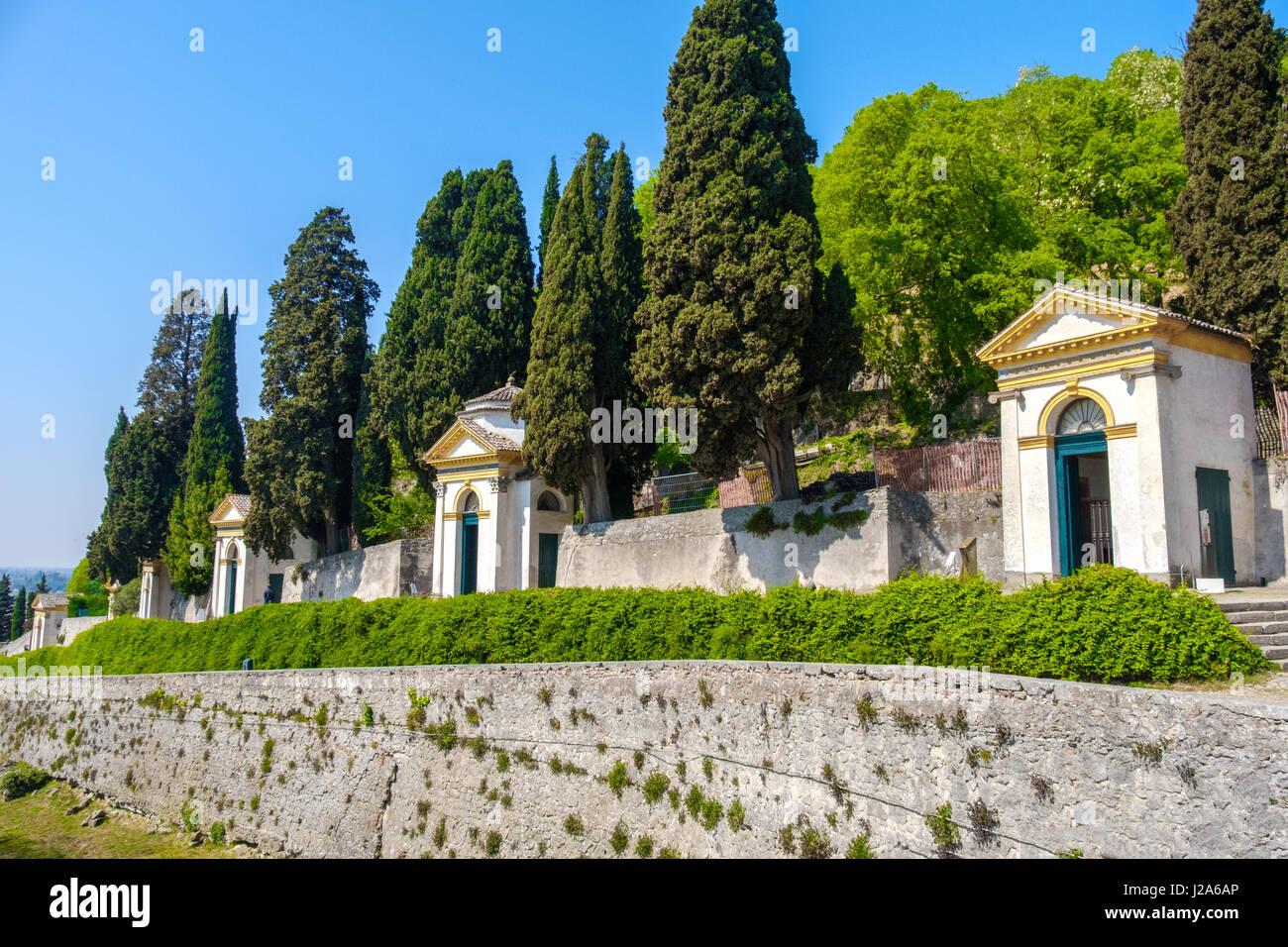 Monselice Padova Veneto santuario delle sette chiesette Sette Chiese Santuario Colli Euganei Immagini Stock