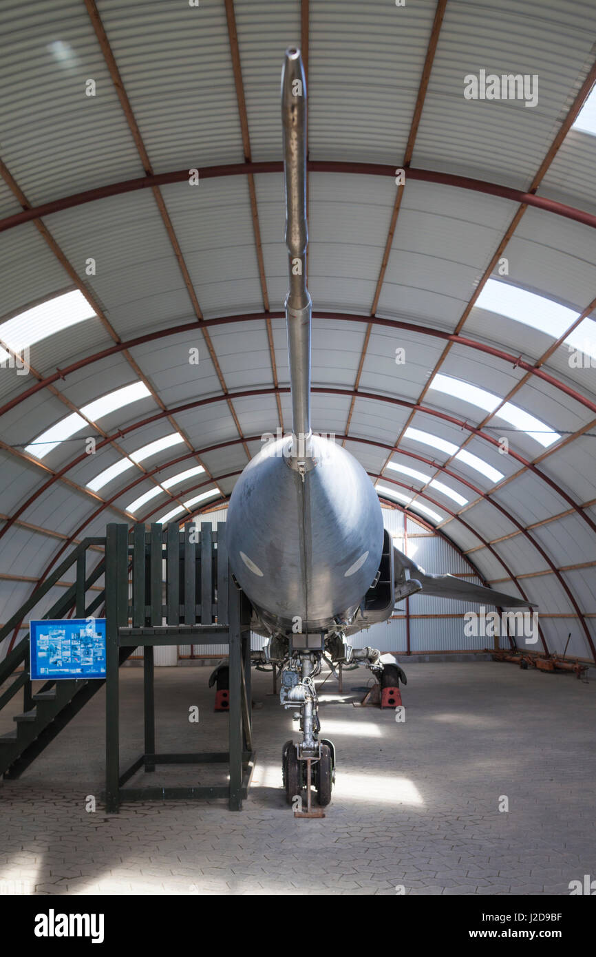 Danimarca, Langeland, Bagenkop, Langelandsfort Cold War Museum, guerra fredda artefatti a ex base NATO, ex Polish Immagini Stock