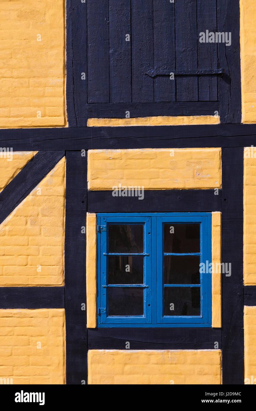 Danimarca, nello Jutland, Skagen, metà degli edifici con travi di legno Foto Stock