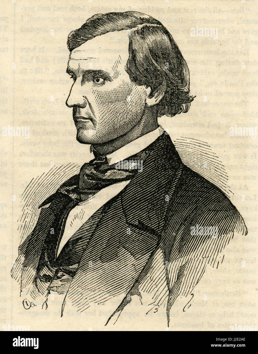 """Antica incisione 1854, 'Mr. Horner, il più grande agricoltore in California."""" John Meirs Horner (1821 Immagini Stock"""