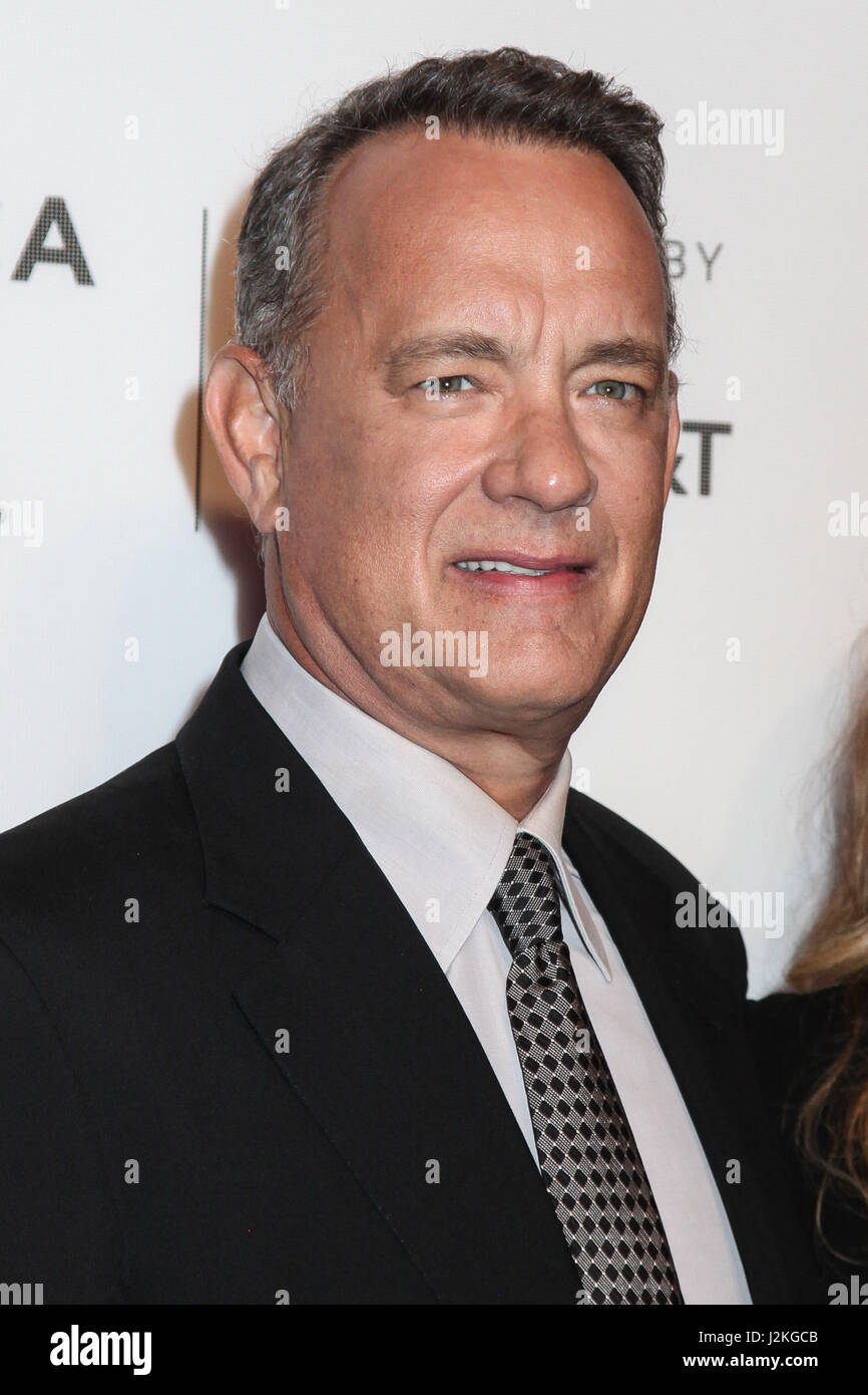 """Tom Hanks partecipare a """"cerchio"""" premiere durante il 2017 Tribeca Film Festival a BMCC Tribeca PAC sul Immagini Stock"""