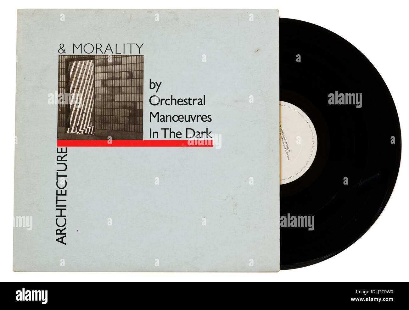 Manovre orchestrali al buio album Architecture & moralità su vinile Immagini Stock