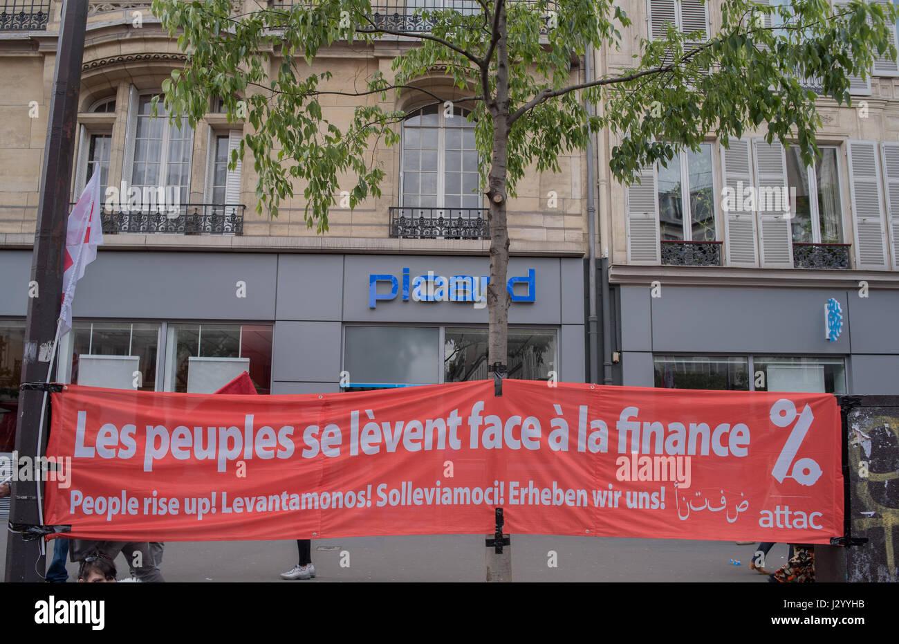 Giorno di maggio a Parigi Immagini Stock