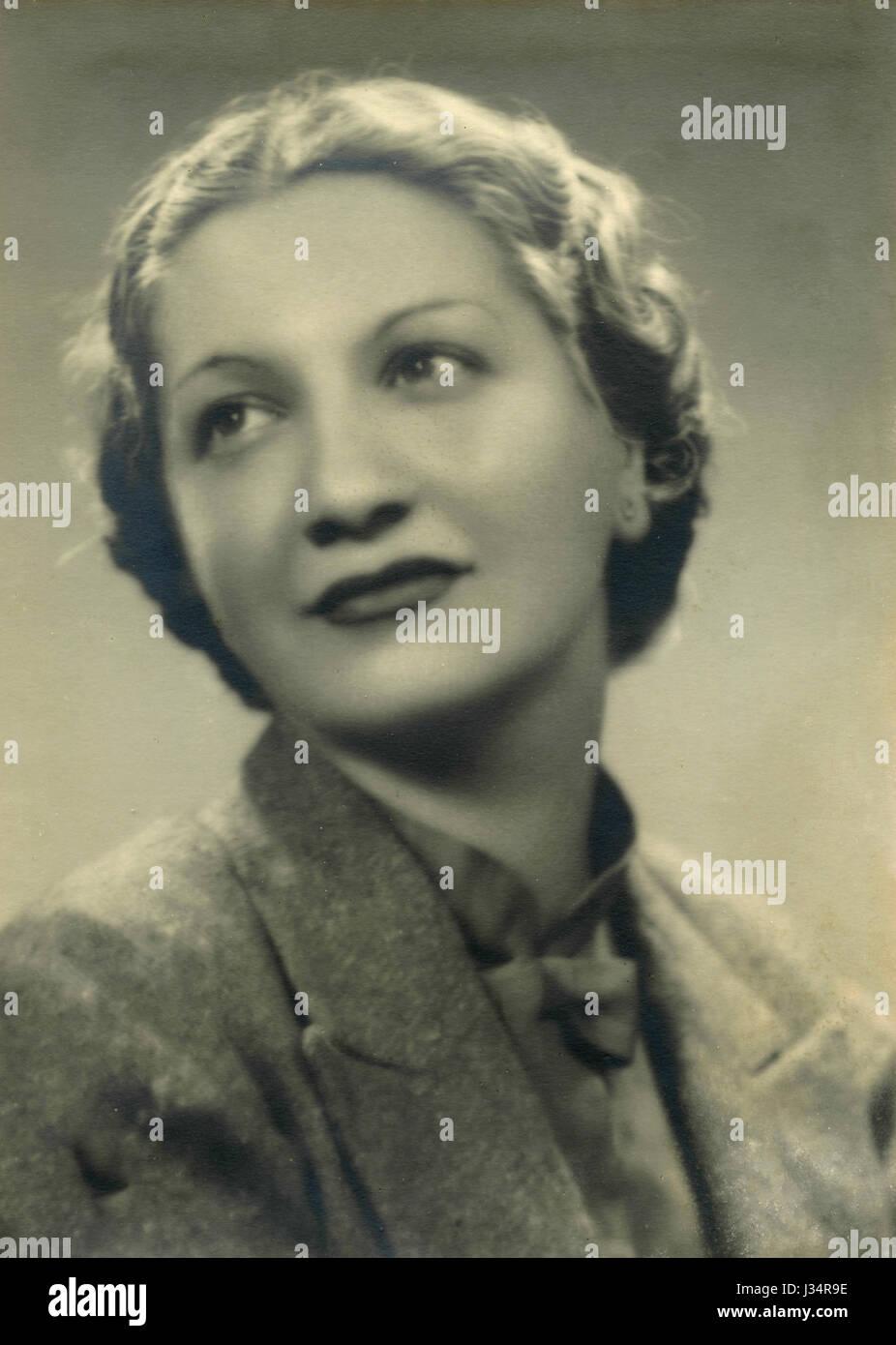 Ritratto di una donna, Italia 1940 Immagini Stock
