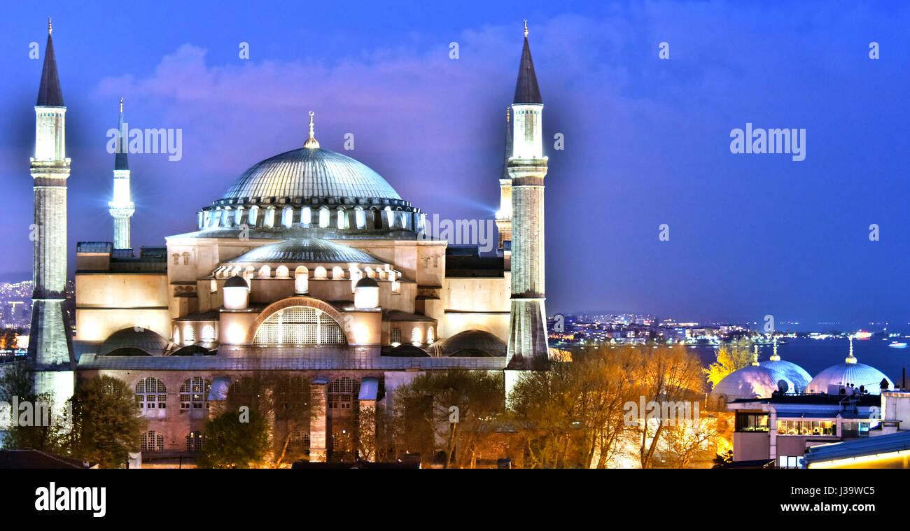 Museo Hagia Sophia (Ayasofya Muzesi) ad Istanbul in Turchia Foto Stock