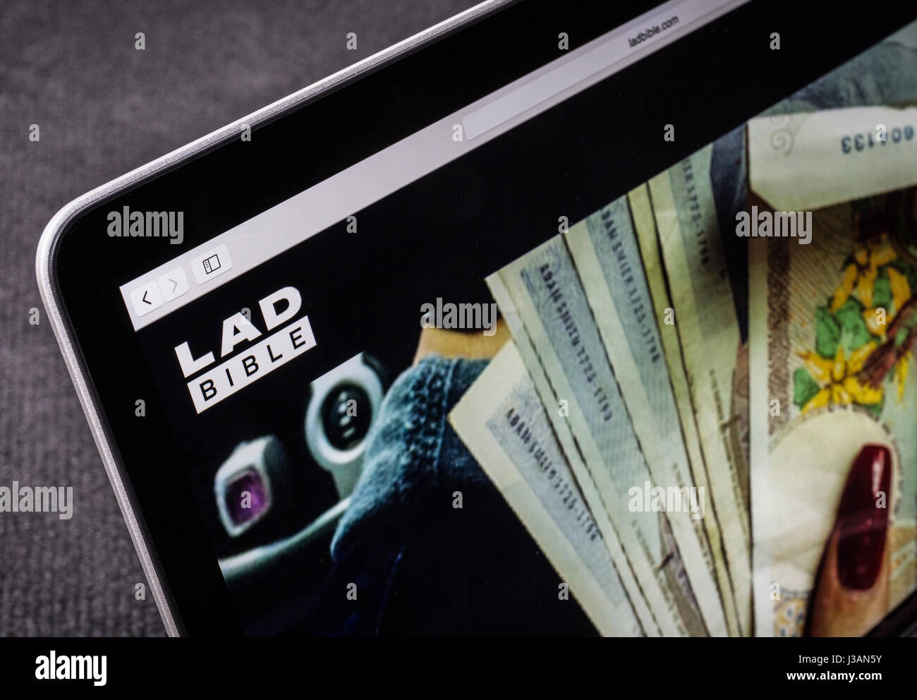 Lad Ladbible.com Bibbia sito web Immagini Stock