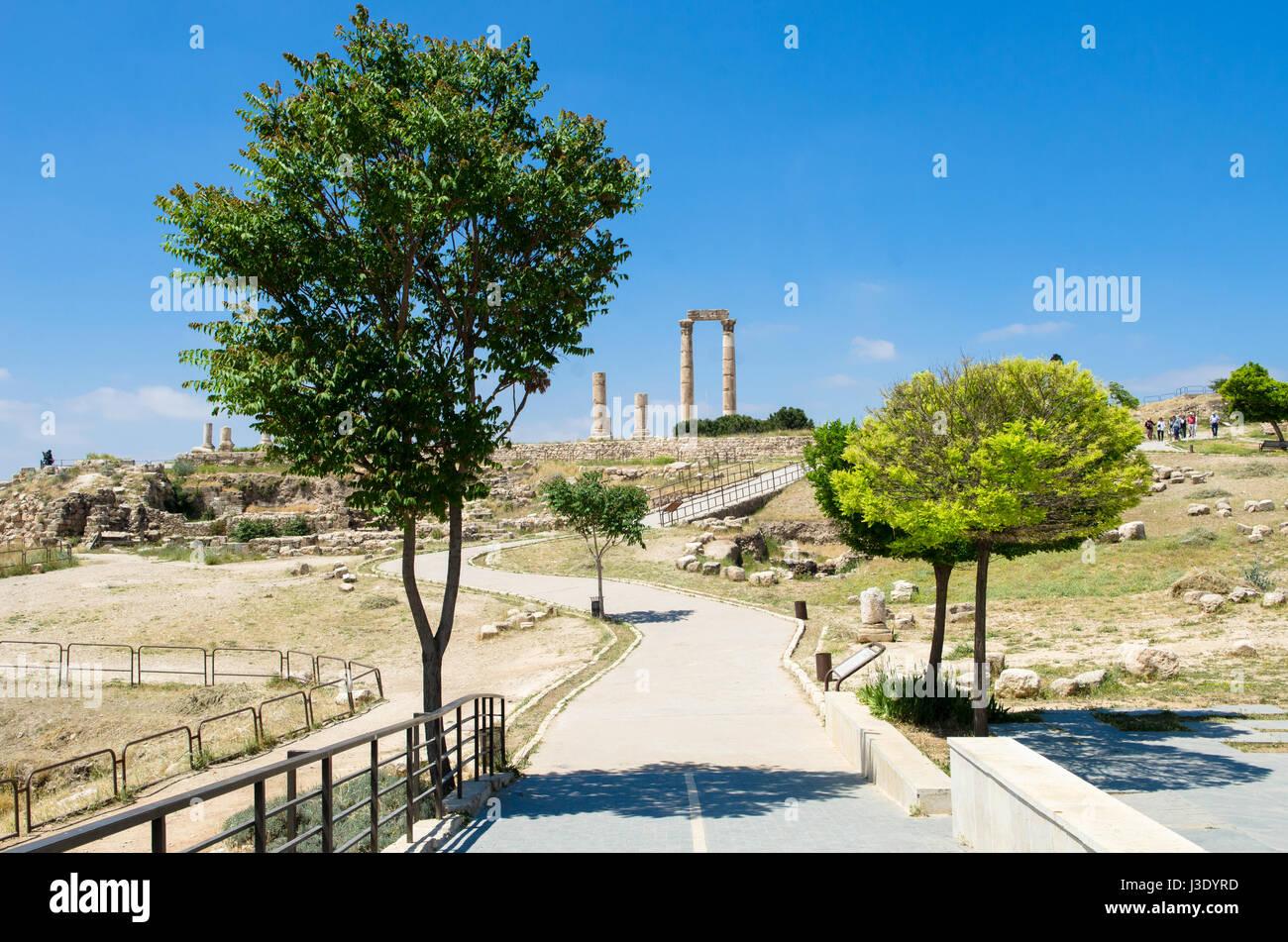 Cittadella di Amman Giordania Medio Oriente Immagini Stock
