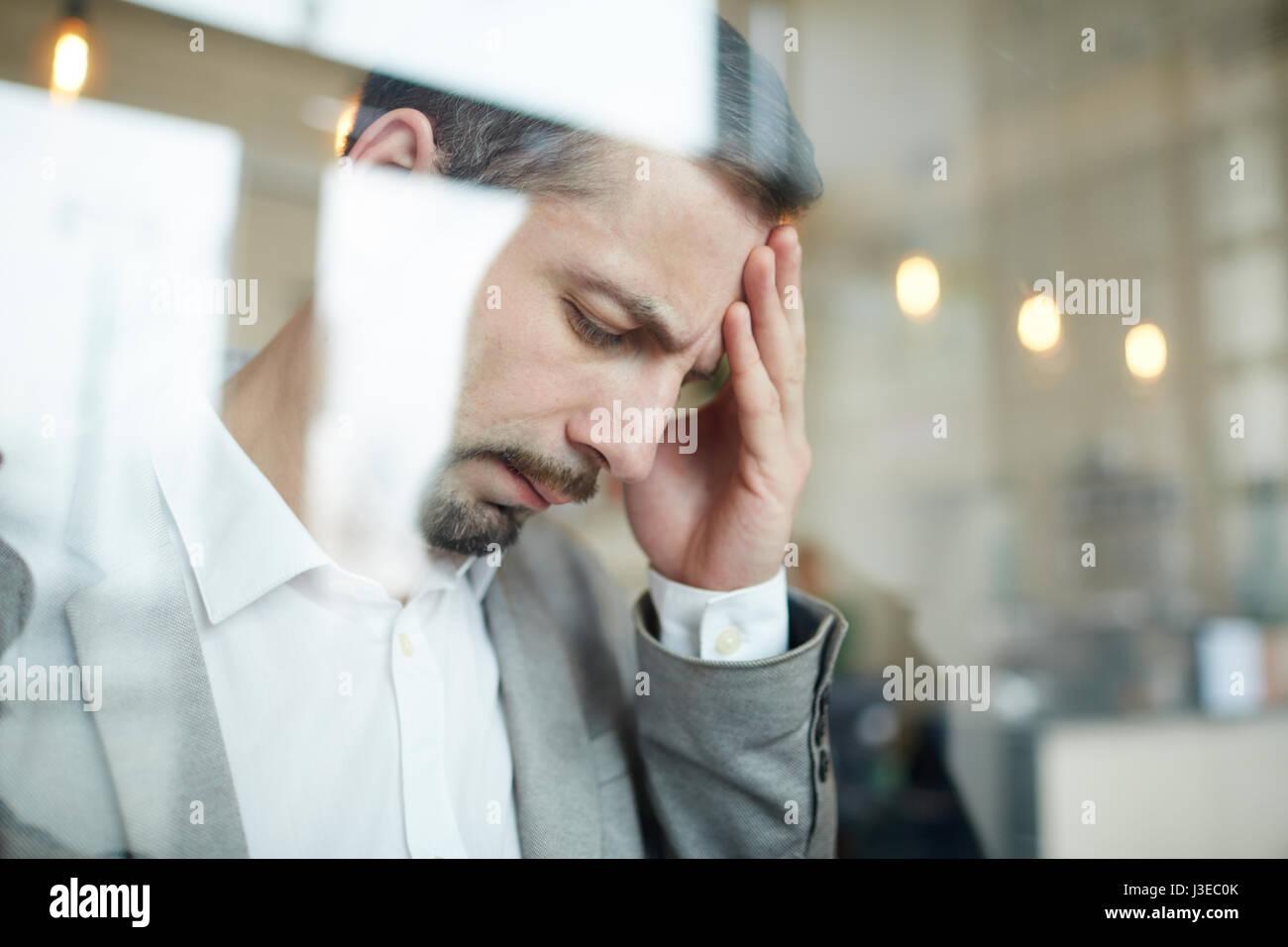 Uomo stanco Immagini Stock