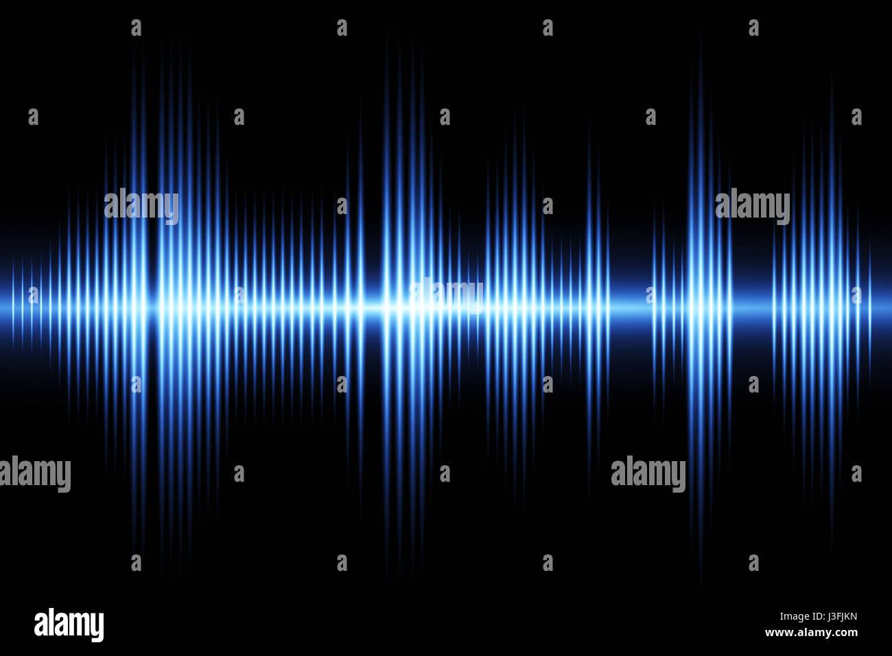 Equalizzatore onda sonora tema sfondo Immagini Stock