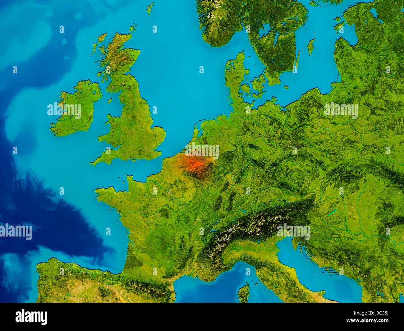 Cartina Fisica Belgio.Belgium Map Satellite Geography Immagini E Fotos Stock Alamy