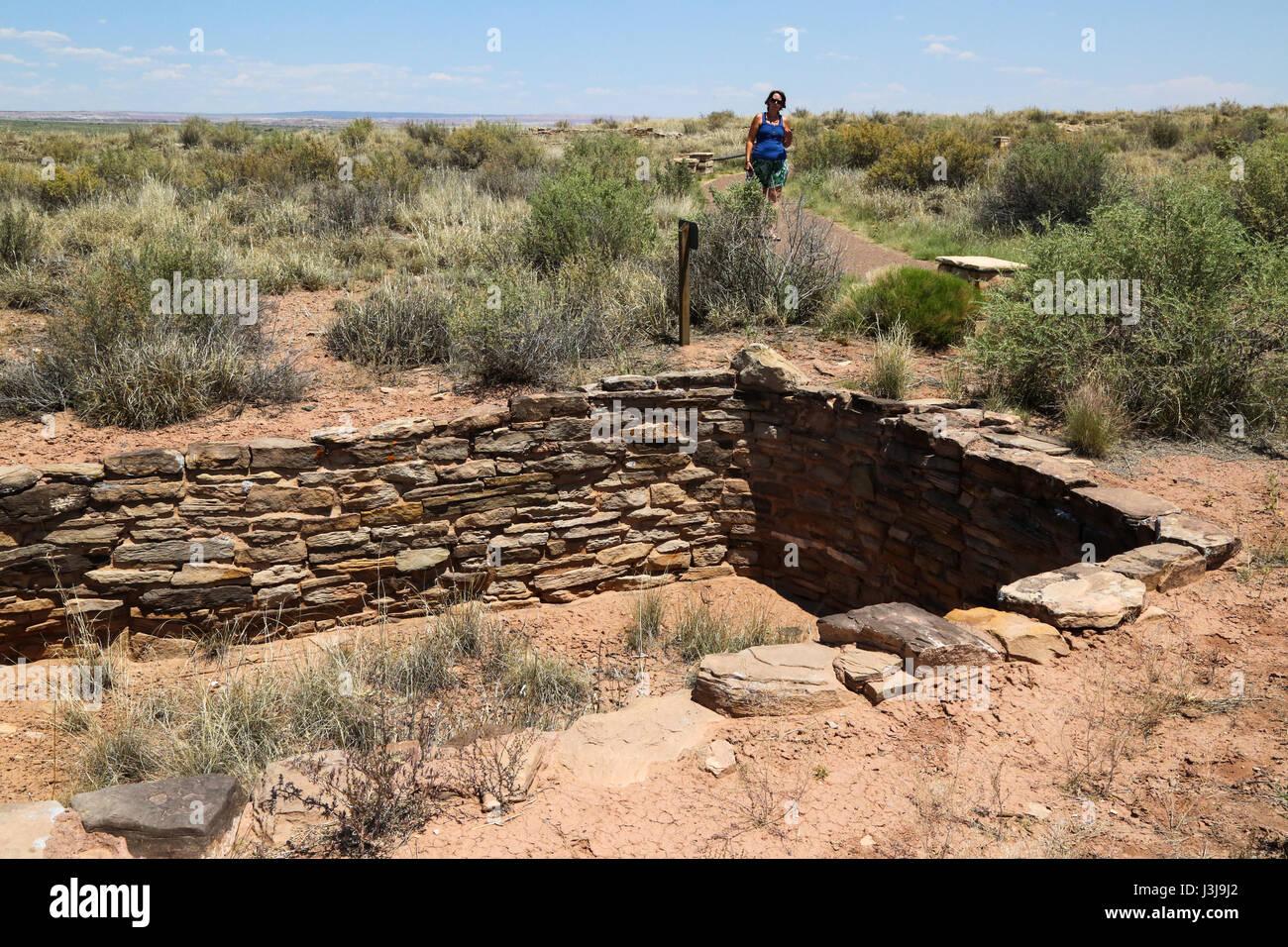 Remenants di antiche dimore nel Deserto Dipinto di Arizona Immagini Stock
