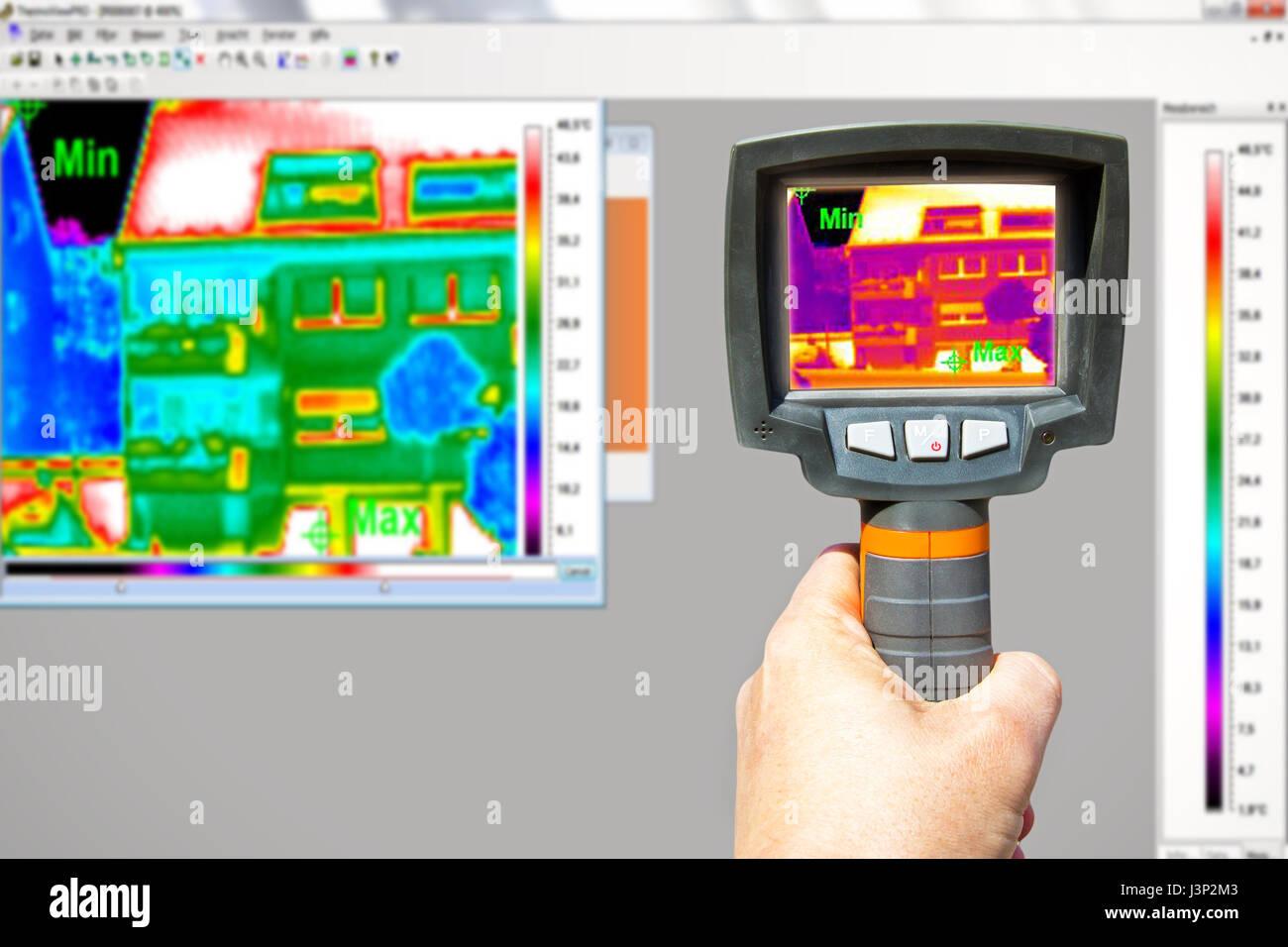 Telecamera a raggi infrarossi Immagini Stock