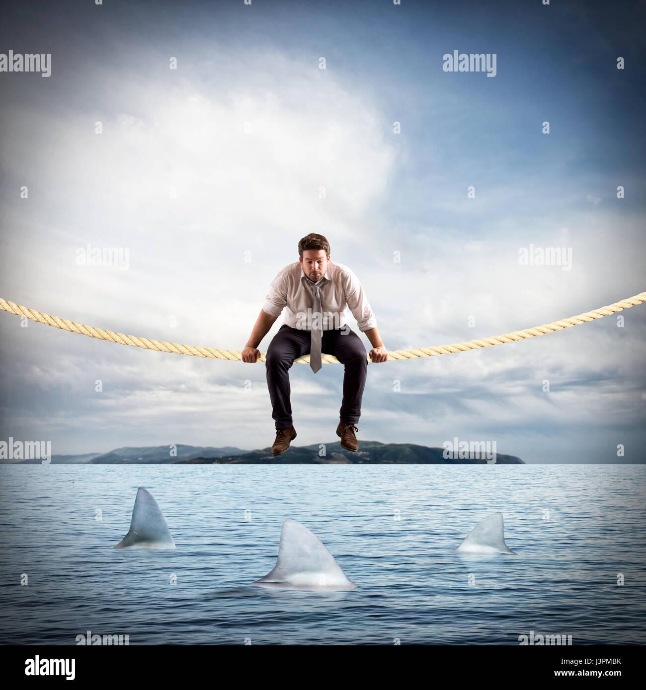 Difficile e rischio in affari Immagini Stock