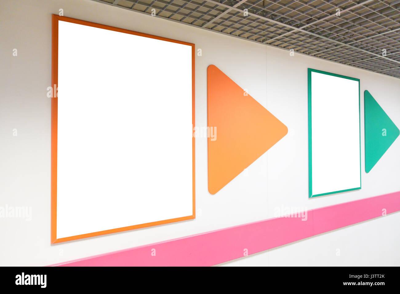 Cornici Colorate Per Foto mock up blank poster pubblicitario telaio con cornici