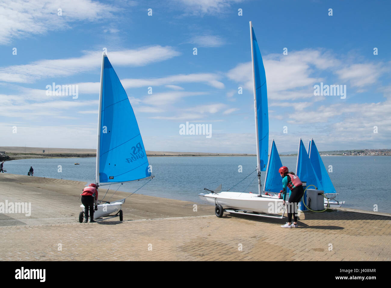 WEYMOUTH PORTLAND NATIONAL SAILING ACADEMY Immagini Stock