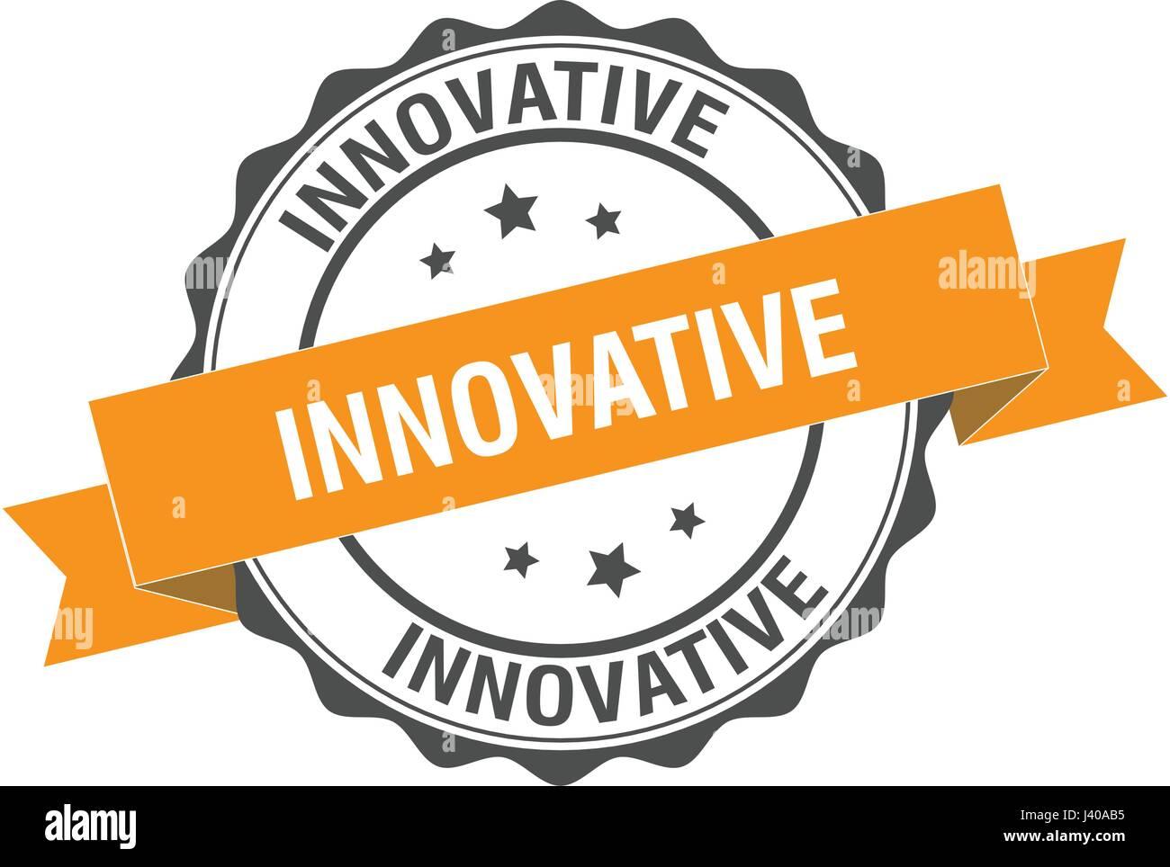 Timbro innovative illustrazione Immagini Stock