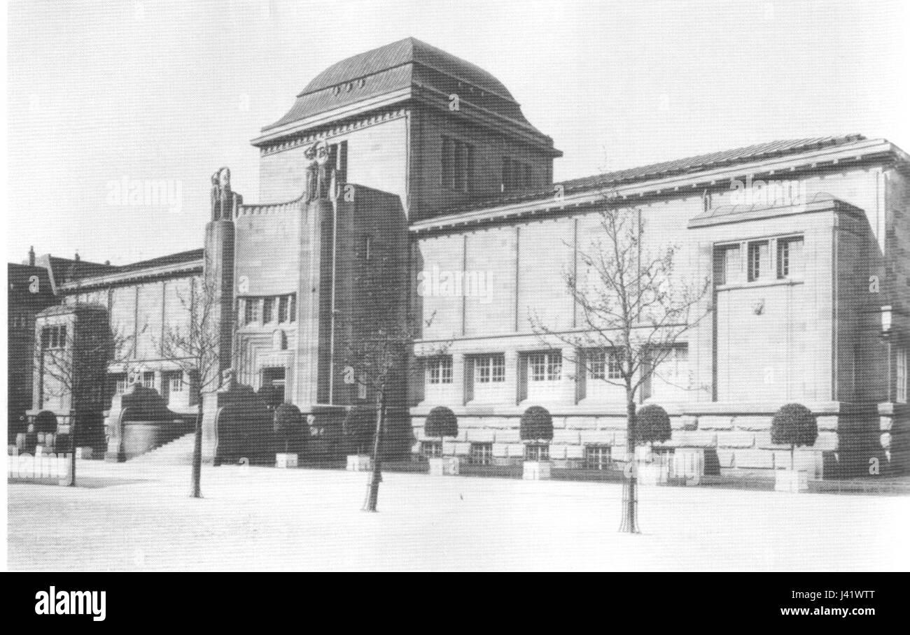 Mannheim Kunsthalle 1918 Immagini Stock