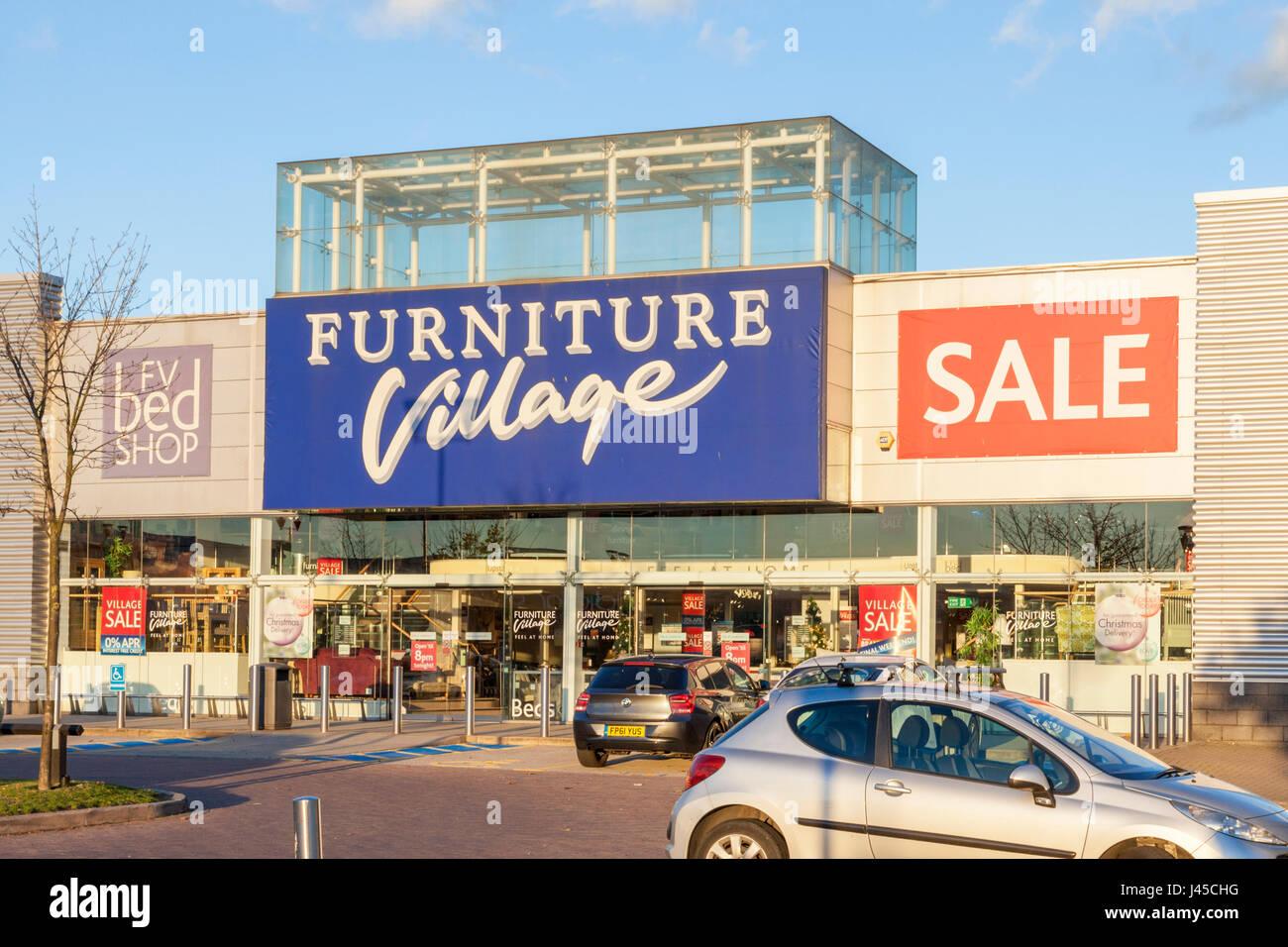 Il villaggio di mobili store, castle marina retail park, Nottingham, Inghilterra, Regno Unito Immagini Stock