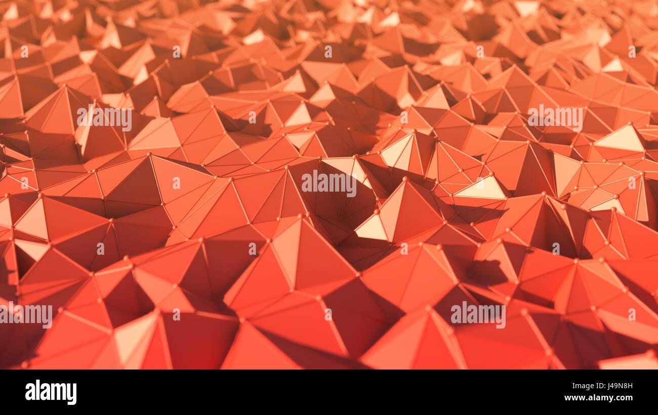 Abstract di basso Stile del poligono di sfondo - 3D illustrazione Immagini Stock