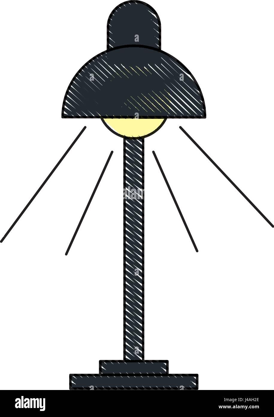 Disegno Lampada Da Scrivania Lampadina Luce Oggetto Di Elettricità