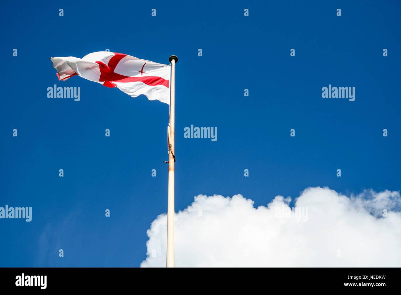 Bandiera Della Città Di Londra Centrato Una Croce Rossa Su Sfondo