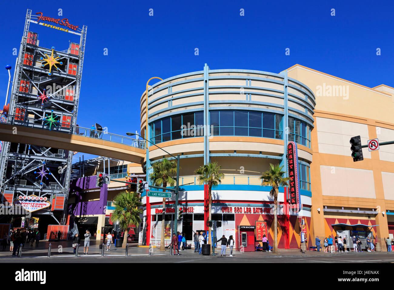 Fremont Street, Las Vegas, Nevada, Stati Uniti d'America, America del Nord Immagini Stock