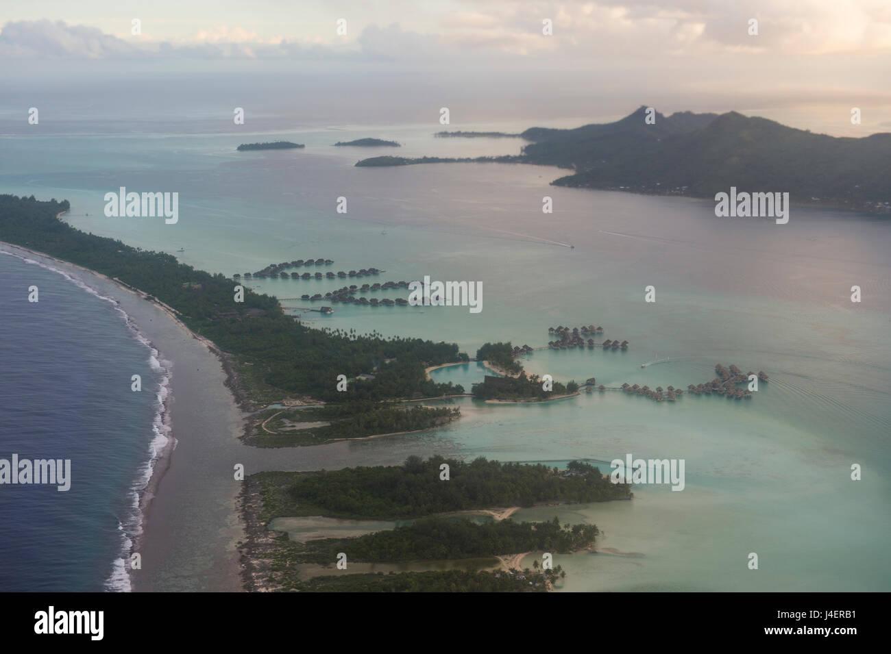 Antenna di Bora Bora, Isole della Società, Polinesia francese, Pacific Immagini Stock