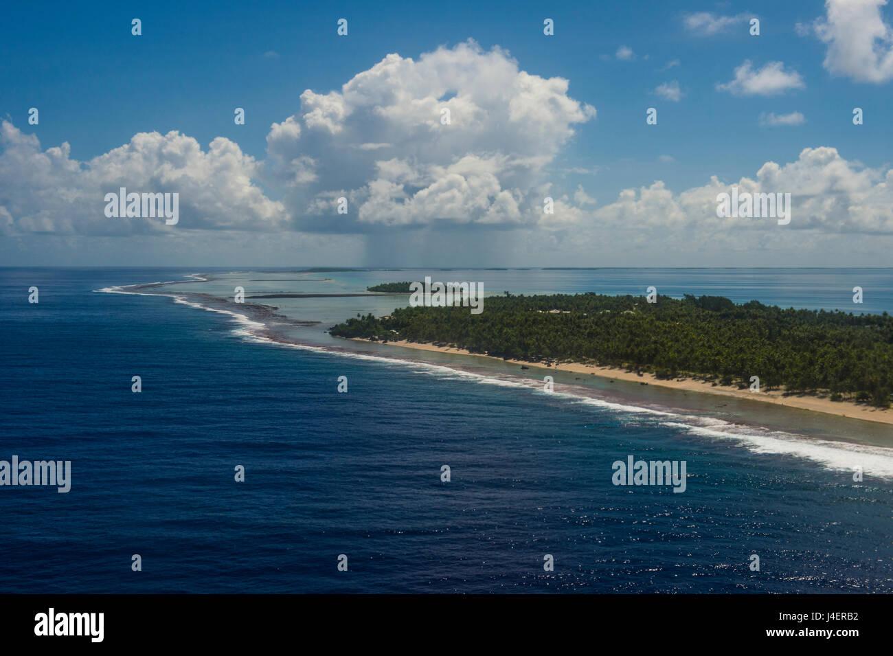 Antenna di Tikehau, Tuamotus, Polinesia francese, Pacific Immagini Stock