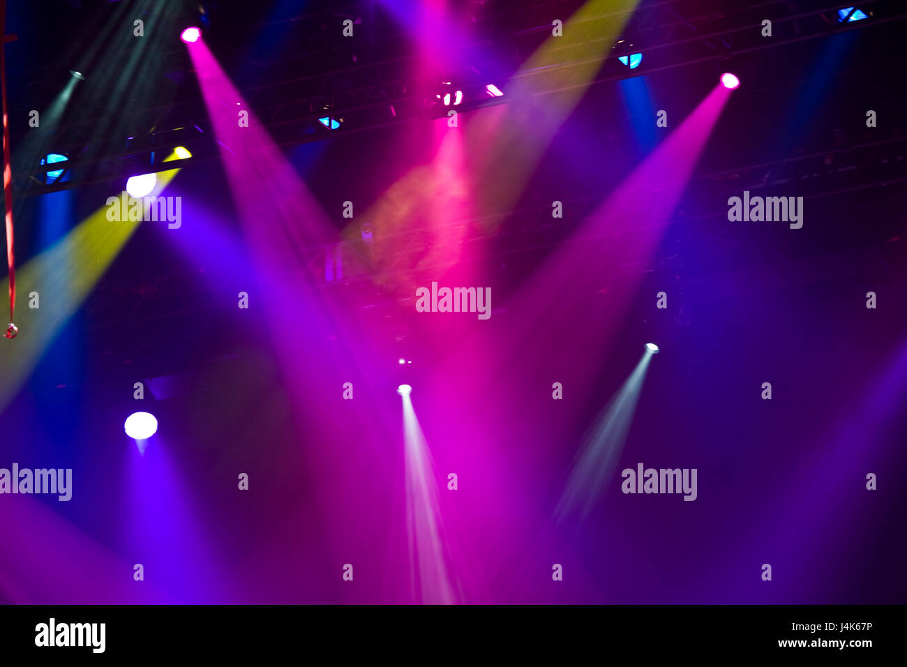 Concerto di colorate luci da palco foto immagine stock