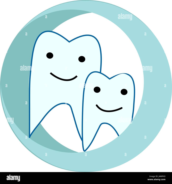 Logo della famiglia stomatologia Illustrazione Vettoriale