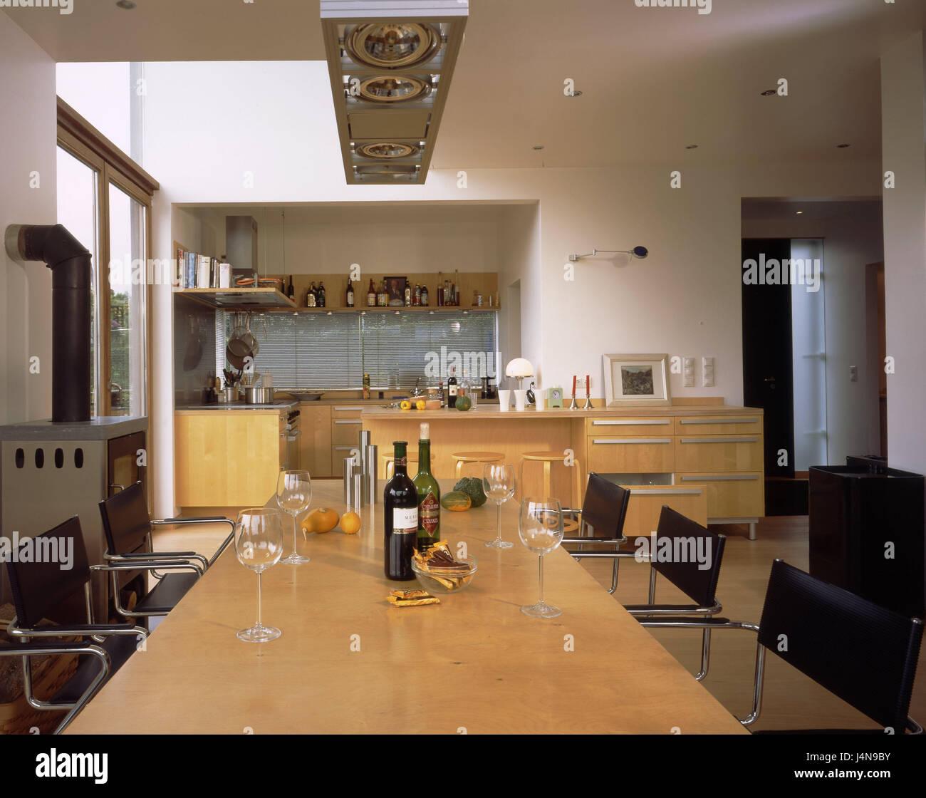 Tavolo Da Soggiorno Cucina.Casa Residenziale Cucina Soggiorno Cucina Cucina Unita Di